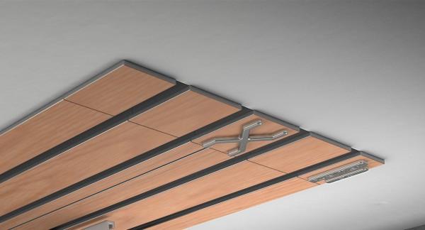 Endkappe X-rail Titan li RAL / Holz divers (auf Anfrage) 4-lfg (TB)