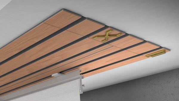 Endkappe X-rail Gold li RAL / Holz divers (auf Anfrage) 5-lfg (TB)