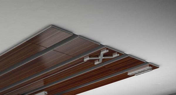 Endkappe X-rail Titan li Palisander 4-lfg (TB)