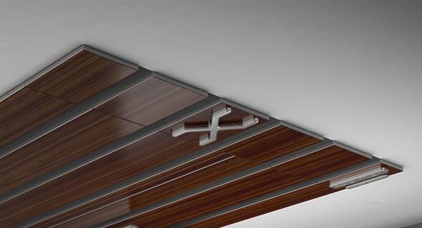 Endkappe X-rail Titan li Palisander 5-lfg (TB)