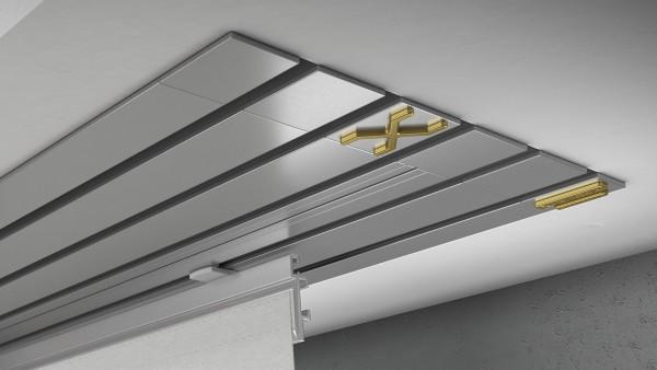 Endkappe X-rail Gold re Alu eloxiert 5-lfg (TB)
