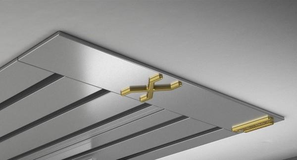 Endkappe X-rail Gold li Alu eloxiert 5-lfg (SD)