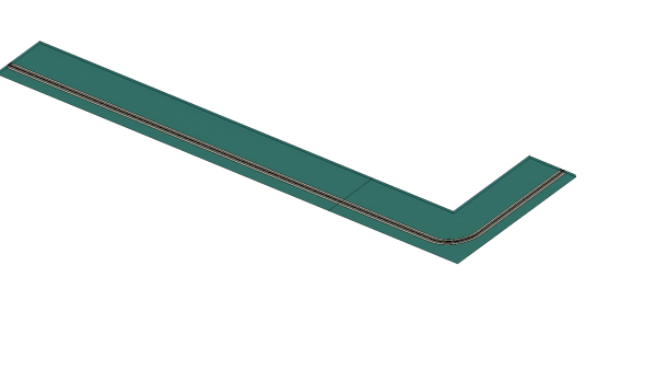 Rundbogen Vorhangschiene Invisible 1-3 läufig
