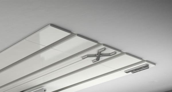 Endkappe X-rail Titan re Alu weiß 4-lfg (TB)