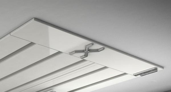 Endkappe X-rail Titan li Alu weiß 5-lfg (SD)