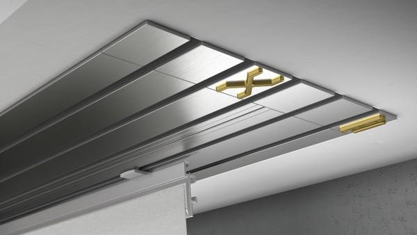 Endkappe X-rail Gold li Edelstahl 5-lfg (TB)