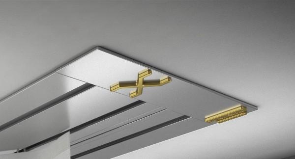 Endkappe X-rail Gold li Alu eloxiert 3-lfg (SD)