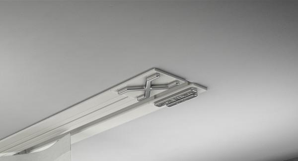 Endkappe X-rail Titan re Alu weiß 1-lfg (TB)