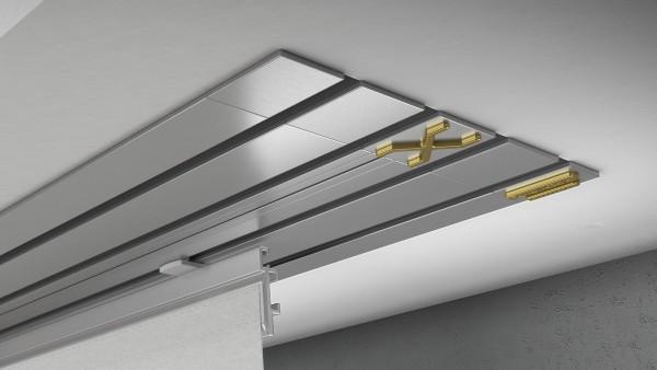 Endkappe X-rail Gold li Alu eloxiert 4-lfg (TB)