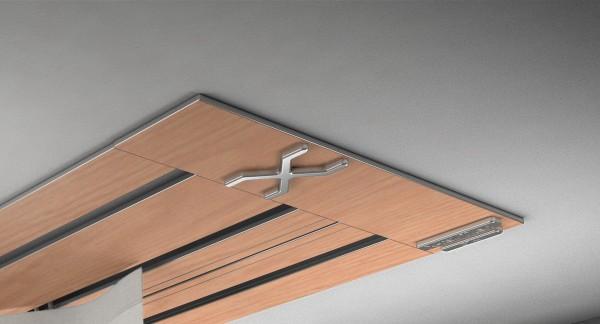 Endkappe X-rail Titan re RAL / Holz divers (auf Anfrage) 3-lfg (SD)