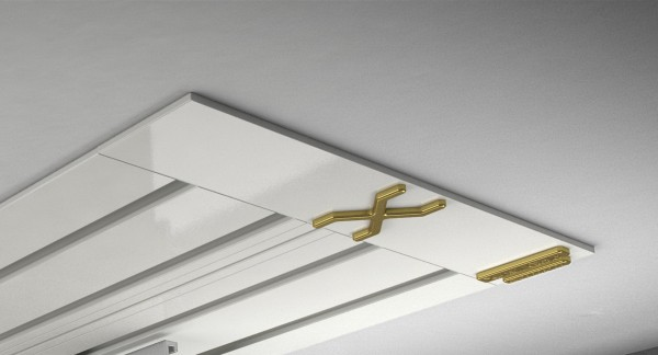 Endkappe X-rail Gold re Alu weiß 4-lfg (SD)