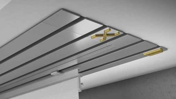 Endkappe X-rail Gold li Alu eloxiert 5-lfg (TB)