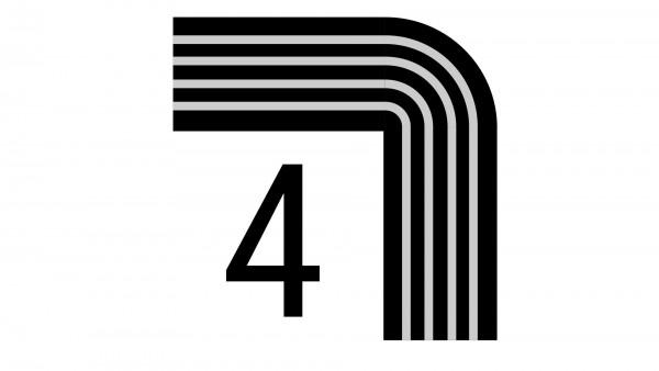 Durchschleuderbogen in Ecke X-rail Echtholz / RAL 90° 4-lfg