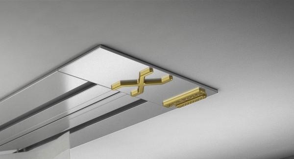 Endkappe X-rail Gold li Alu eloxiert 2-lfg (SD)