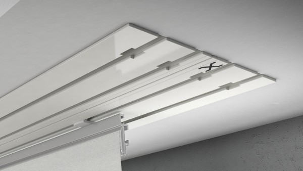 X-rail Basic Alu weiß 4-läufig  cm