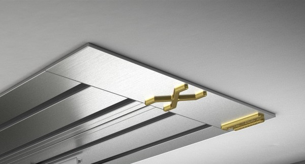 Endkappe X-rail Gold li Edelstahl 4-lfg (SD)