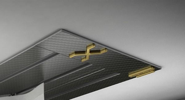 Endkappe X-rail Gold re Carbon 3-lfg (SD)