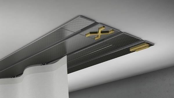 Endkappe X-rail Gold re Carbon 3-lfg (TB)