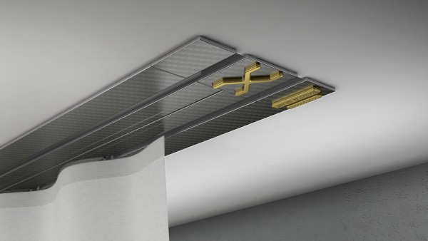 Endkappe X-rail Gold re Carbon 2-lfg (TB)