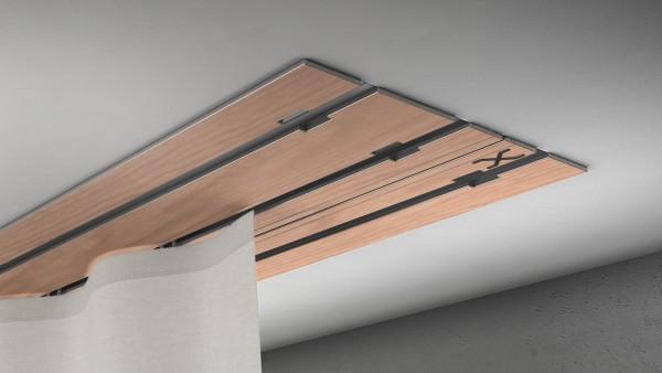 X-rail Basic RAL / Holz divers (auf Anfrage) 3-läufig |cm