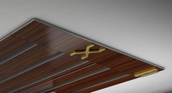 Endkappe X-rail Gold li Palisander 5-lfg (SD)