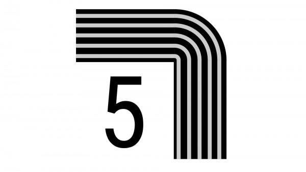 Durchschleuderbogen in Ecke X-rail Palisander 90° 5-lfg