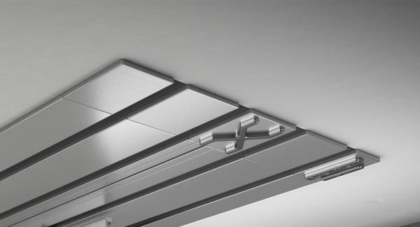 Endkappe X-rail Titan li Alu eloxiert 4-lfg (TB)