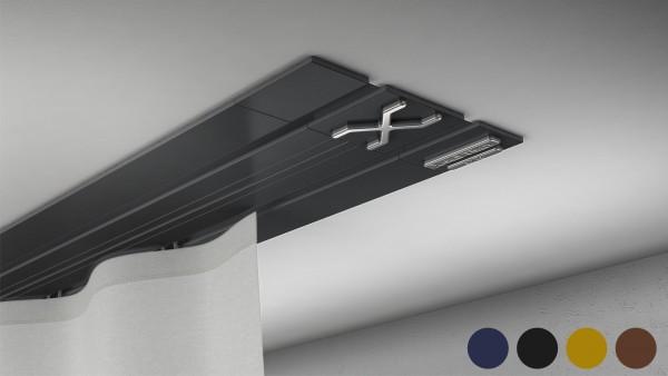 X-rail TITAN 1-5 läufig RAL Farbe / Echtholzfurnier [SD]