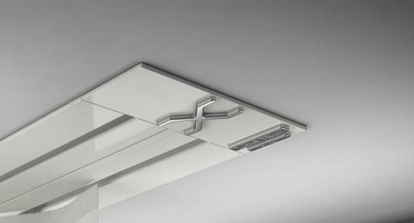 Endkappe X-rail Titan li Alu weiß 2-lfg (SD)