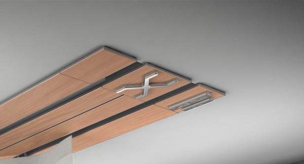 Endkappe X-rail Titan li RAL / Holz divers (auf Anfrage) 2-lfg (TB)