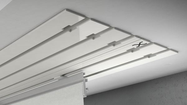 X-rail Basic Alu weiß 5-läufig  cm