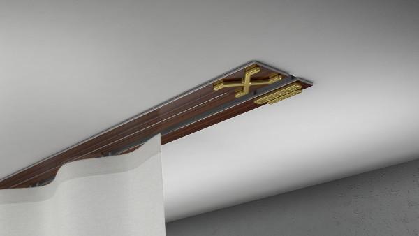 Endkappe X-rail Gold li Palisander 1-lfg (TB)