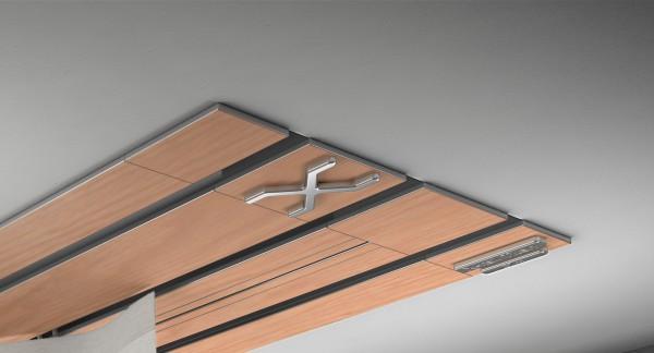 Endkappe X-rail Titan li RAL / Holz divers (auf Anfrage) 3-lfg (TB)