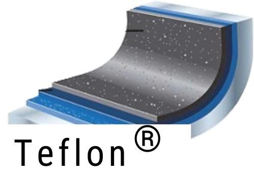 Teflonbeschichtung Durchschleuderbogen 2-läufig