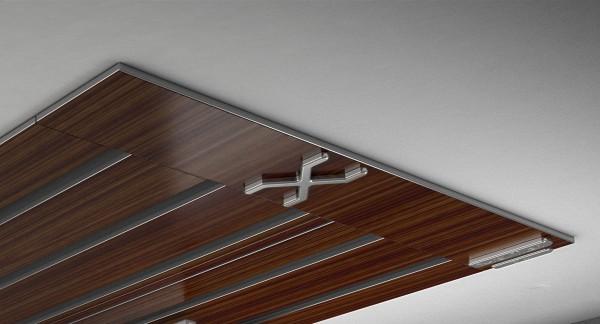 Endkappe X-rail Titan li Palisander 5-lfg (SD)