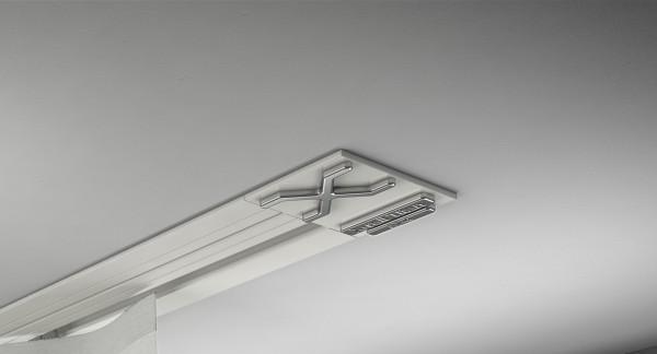 Endkappe X-rail Titan re Alu weiß 1-lfg (SD)