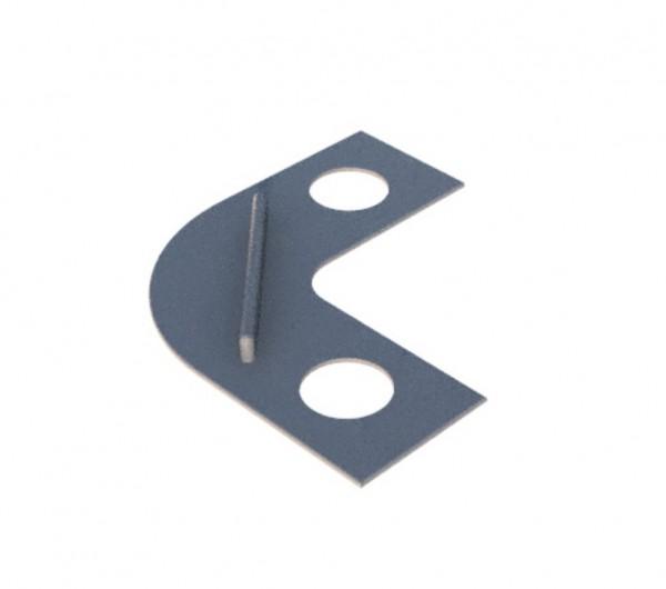 Schablone Durchschleuderbogen 2-läufig