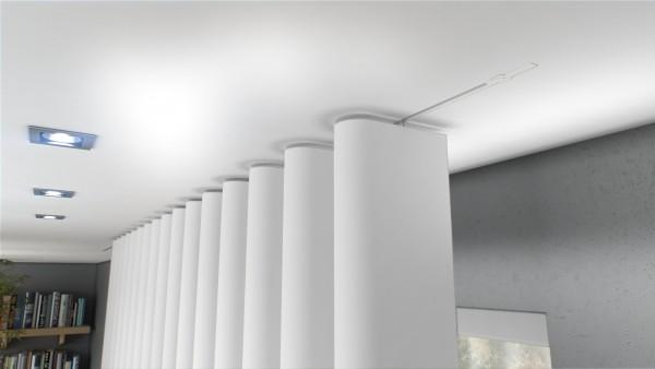 Vorhangschiene Invisible 200cm 1-3 läufig