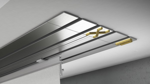 Endkappe X-rail Gold re Edelstahl 4-lfg (TB)