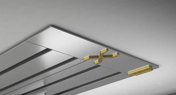 Endkappe X-rail Gold li Alu eloxiert 4-lfg (SD)