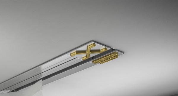 Endkappe X-rail Gold li Alu eloxiert 1-lfg (TB)