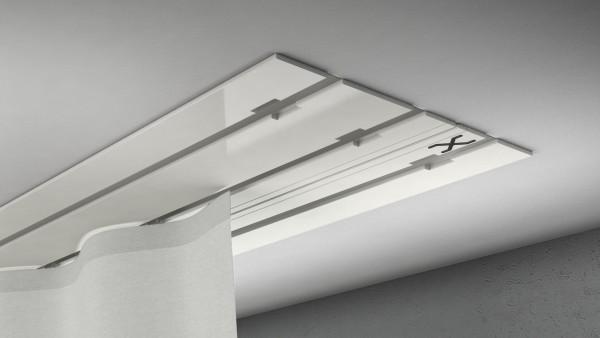 X-rail Basic Alu weiß 3-läufig |cm