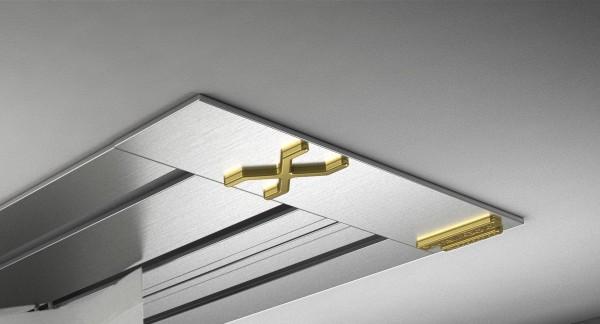 Endkappe X-rail Gold li Edelstahl 3-lfg (SD)