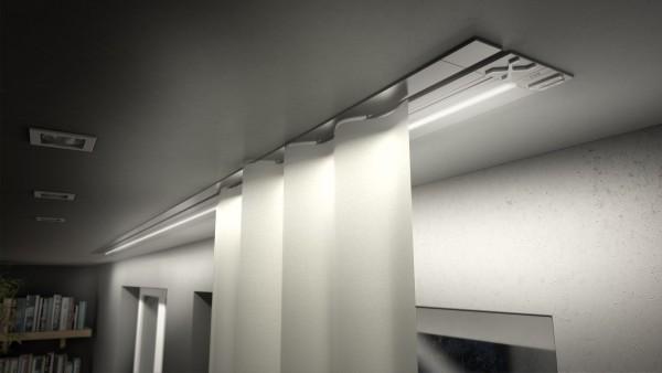Beleuchtung-Vorhangschiene