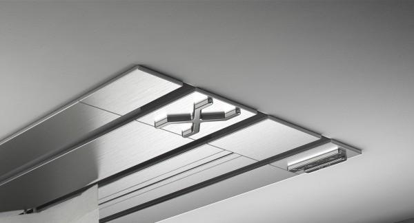 Endkappe X-rail Titan li Edelstahl 3-lfg (TB)
