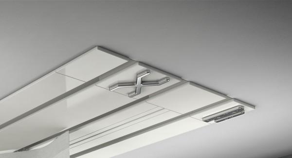 Endkappe X-rail Titan li Alu weiß 3-lfg (TB)