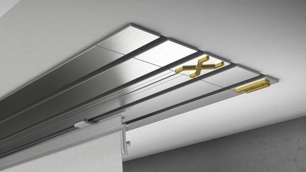 Endkappe X-rail Gold li Edelstahl 4-lfg (TB)
